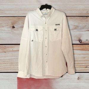 Colombia Bahama II Long Sleeve Shirt White Size M
